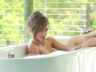 HOT SEXY SCENE WITH MALENA MORGAN PLAYING WITH BUBBLE BATH