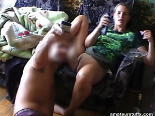 Milf Gets Her Pussy Licked While Watching TV