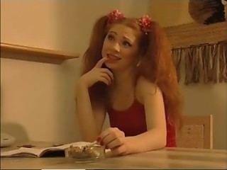 Pigtail Redhead Russian Smoking Teen