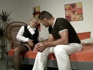 Slutty Blonde German Mature Cheating
