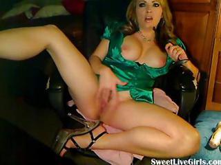 Sexy Blonde Fingering Her Pussy On A Cha...