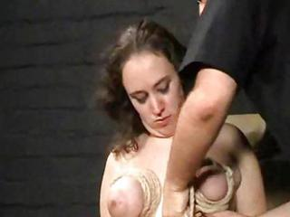Breast Torture And Extreme Bondage Of En...