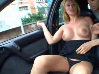 Amateur Big Tits Car MILF Public Smoking