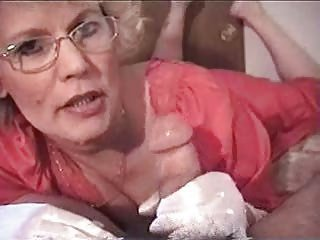 Hot Granny Teacher Smoking BJ
