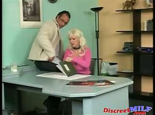 Blonde European German MILF Office Secretary
