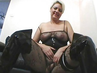 British Chubby European Latex Lingerie MILF