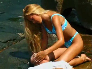 Beach Bikini Blonde Outdoor Teen