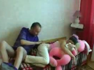 Amateur Daddy Daughter Homemade Old and Young Sleeping Teen