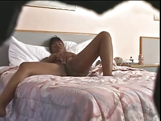 Spy Cam Ebony Intense Pussy Play