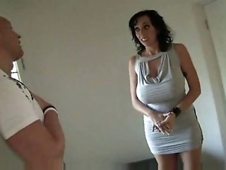 Hot Busty Brunette Cougar Alia Janine