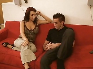 A VERY HoT MiLf is sucking  amp; fucking on some young dude