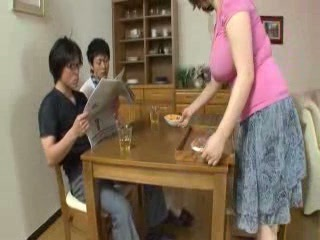 Asian Big Tits Family Japanese Mom