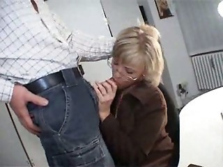 Blowjob Glasses MILF Secretary