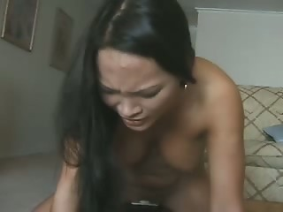 Asian chick with monster vibrating machine