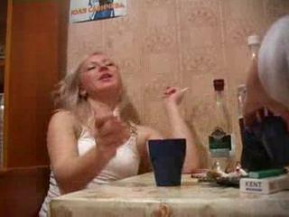 Amateur Drunk Kitchen Russian Smoking Teen