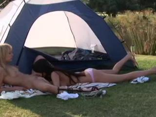Triple Treat For Lesbian Sex Lovers, A Lesbian Trio, A Duo And One Outdoors Sex Tubes