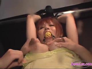 Asian Girl Mouthgagged Arms Tied Getting Her Tits Milked Nipples Sucked Pussy Licked By 2 Girls In The Dungeon by sotegune Sex Tubes