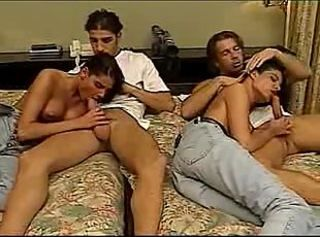Hot Twins In Group Sex...