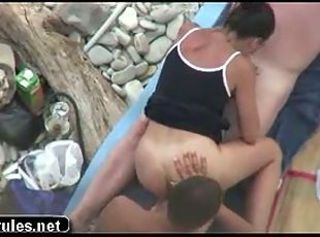 Amateur Beach Blowjob Outdoor Teen Threesome
