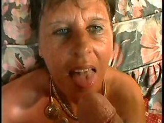 SEXY MOM n90 brunette mature on a bed