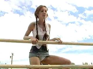 Farm Outdoor Pigtail Teen