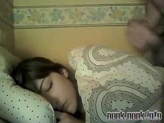 Cumshot Sleeping Teen