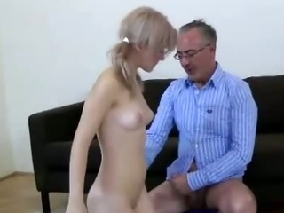 British European Old and Young Skinny Teacher Teen