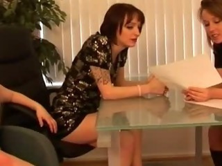 Cfnm bitches get hot for femdom dick