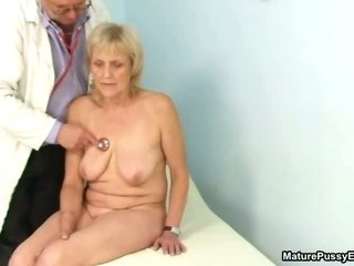 Grandma gets a full body check into from