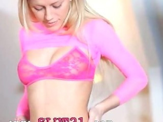 Amazing Blonde Cute Skinny Solo Stripper Teen
