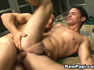 Horny Latin Barebacking on Top