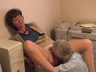 Clothed Licking Mature Office Older