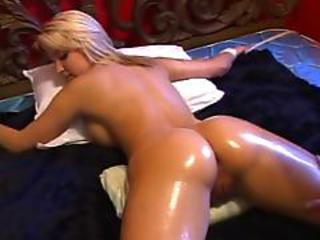 Ass Bdsm Blond Bondage Søt Oljet