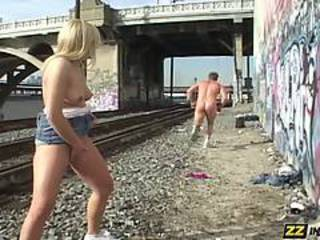 Funny Outdoor Public Teen