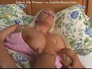Big Tits Blonde Mature Sleeping