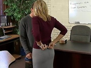 Blonde Cute Office Student