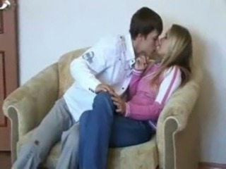 Blonde Kissing Russian Teen