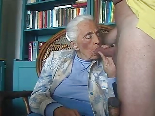 Very old granny really loves young cock. Amateur older