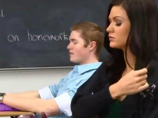 Babe Brunette Cute School Student Young