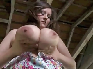 Sexy Brunette MILF Milking Her Big Boobs!!!!!!!