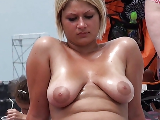 Beach Nudist Outdoor SaggyTits Teen Voyeur