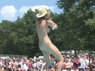 Dancing Nudist Outdoor Public