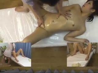 Asian  Massage Oiled Teen Voyeur