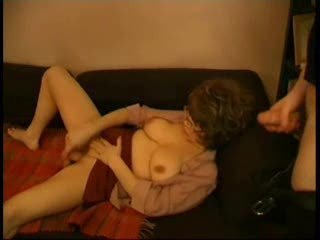 Mom Caught By Her Son Playing With A Dildo