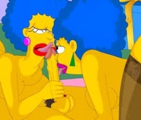 Homer screws Patty and Selma