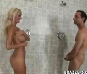 Blonde in the shower