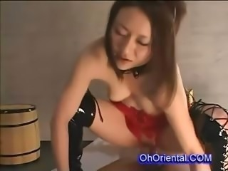 Amazing Asian Deepthroat Latex Teen