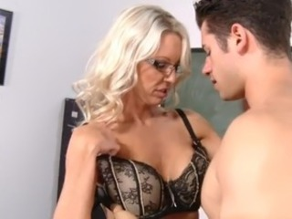 Glasses Lingerie MILF Old and Young Teacher