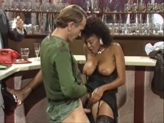 Drunk Ebony Interracial MILF Natural Vintage