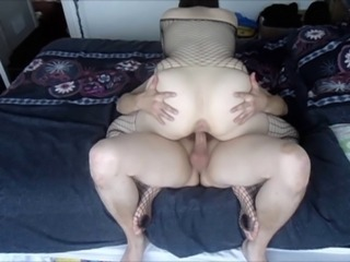 Wife being fucked by her friend as hubby works